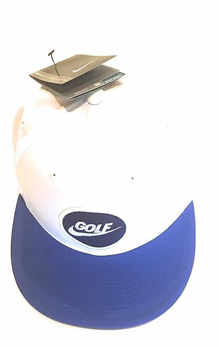 Nike 2015 True Adjustable Mens Six Panel Design Golf Cap White Game Royal e2fb20152f5