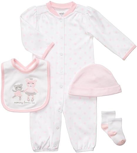 d428494d6ed4 Amazon.com: Carter's Baby Girl's 4-Piece Layette Set - Pink Bears ...