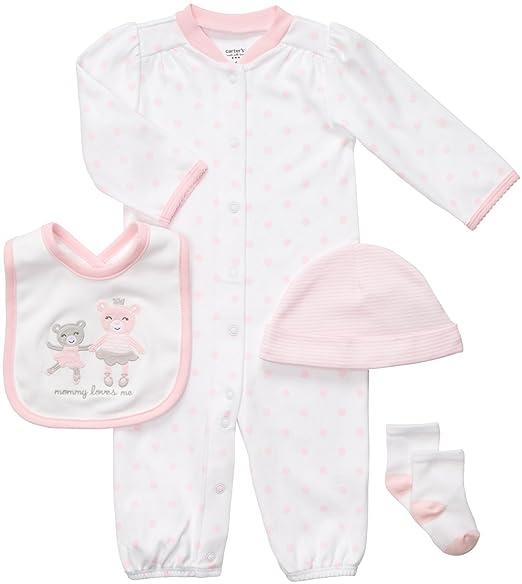 Amazon.com: Carters bebé niña lunares, color rosa 4 pieza ...
