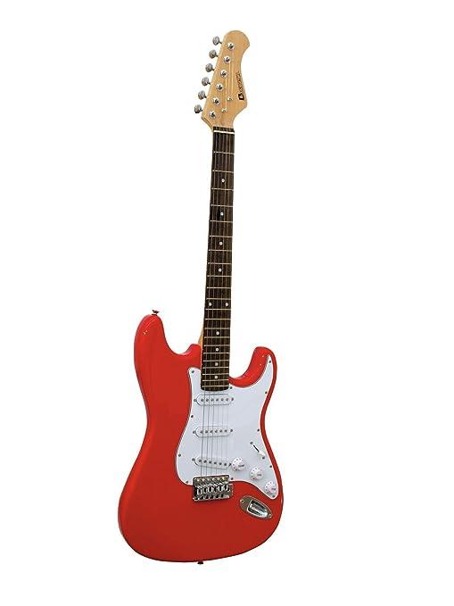 DIMAVERY ST-203 E-Guitar, rojo Guitarra electrica: Amazon.es ...