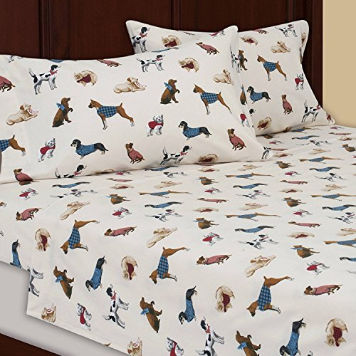 Price comparison product image Mainstays Dogs FULL Flannel Sheet Set