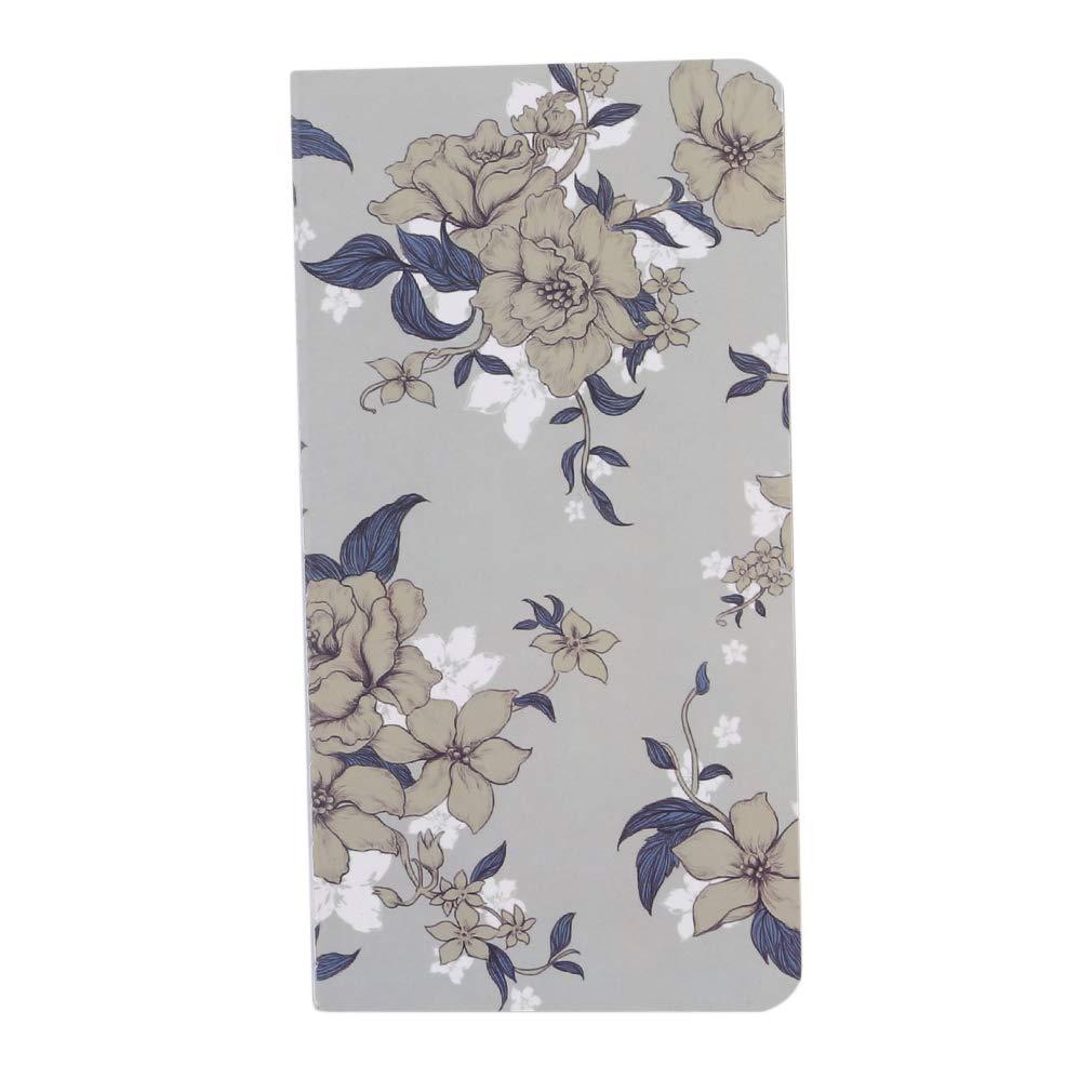 DearAnswer Retro Flower Notebook Kraft Paper Notepad Diary Journal Charm Daily Planner Agenda,Gray