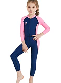 Haolian Children Boys Girls Wetsuit One Piece Swimsuit Thermal