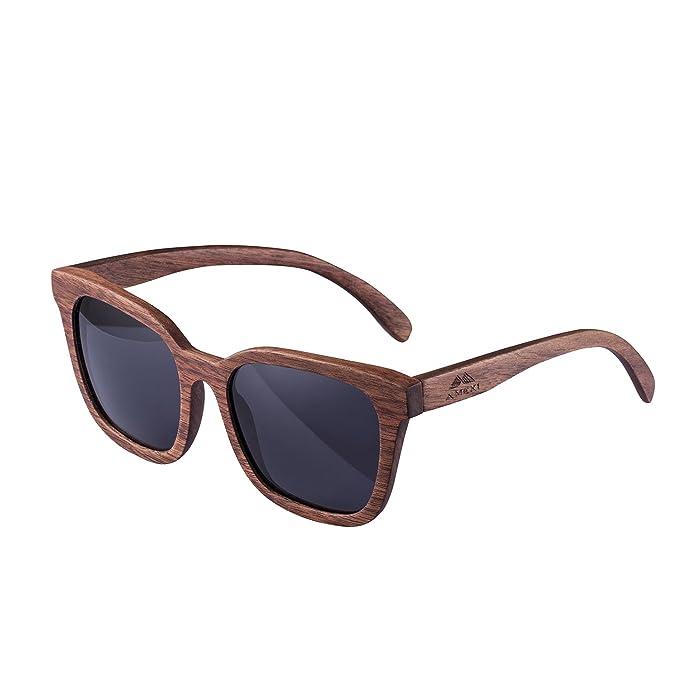 Gafas de sol de madera Amexi Gafas de sol polarizadas Lente TAC UV de nogal negro Lentes de sol UV400 / El marco de las gafas está hecho de madera de ...