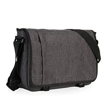 Amazon.com: Hynes Eagle Laptop Messenger Bag for 15-inch (Dark ...