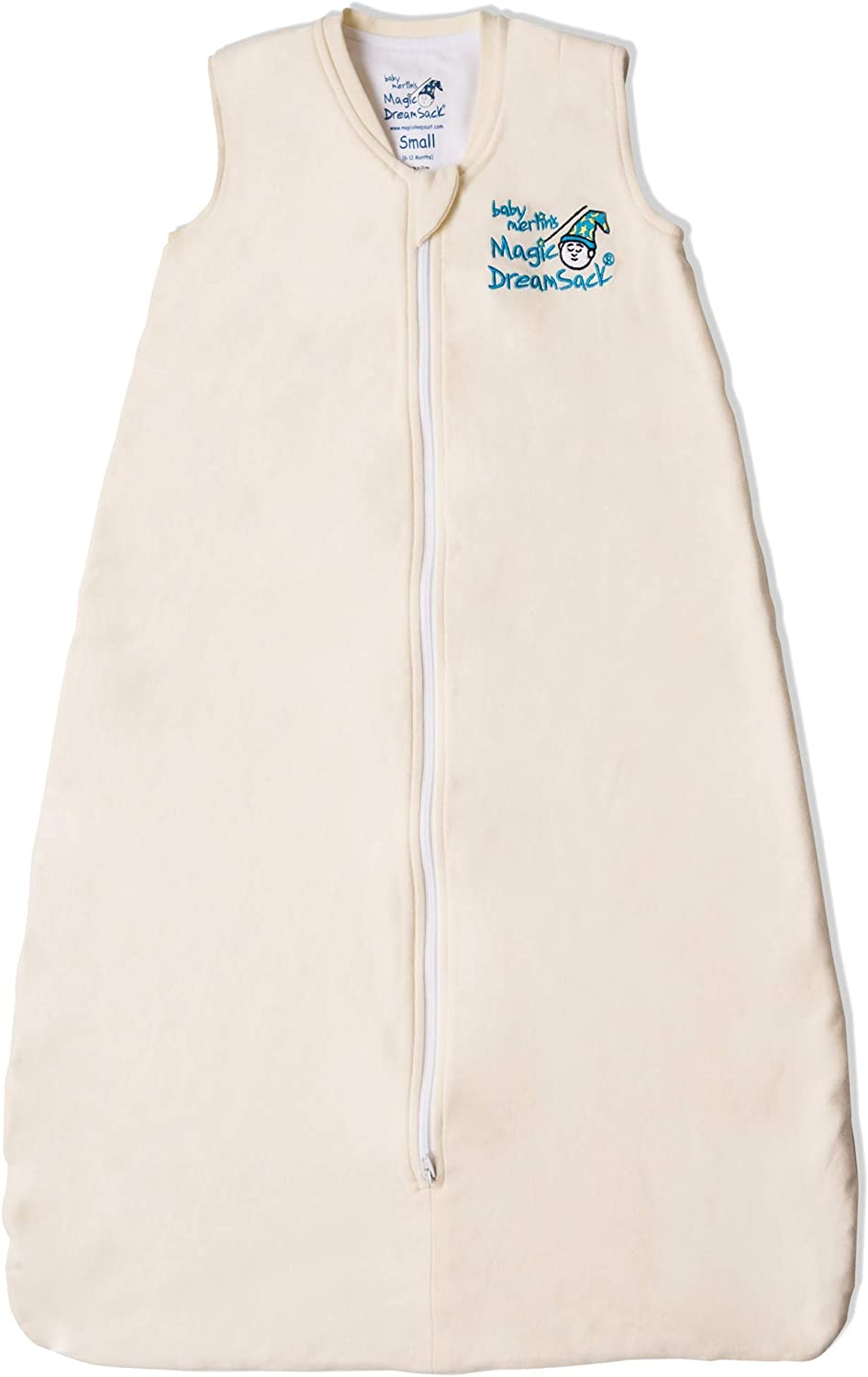 Baby Merlin's Magic DreamSack - Double Layer Wearable Blanket - Cotton - Cream 6-12 Months