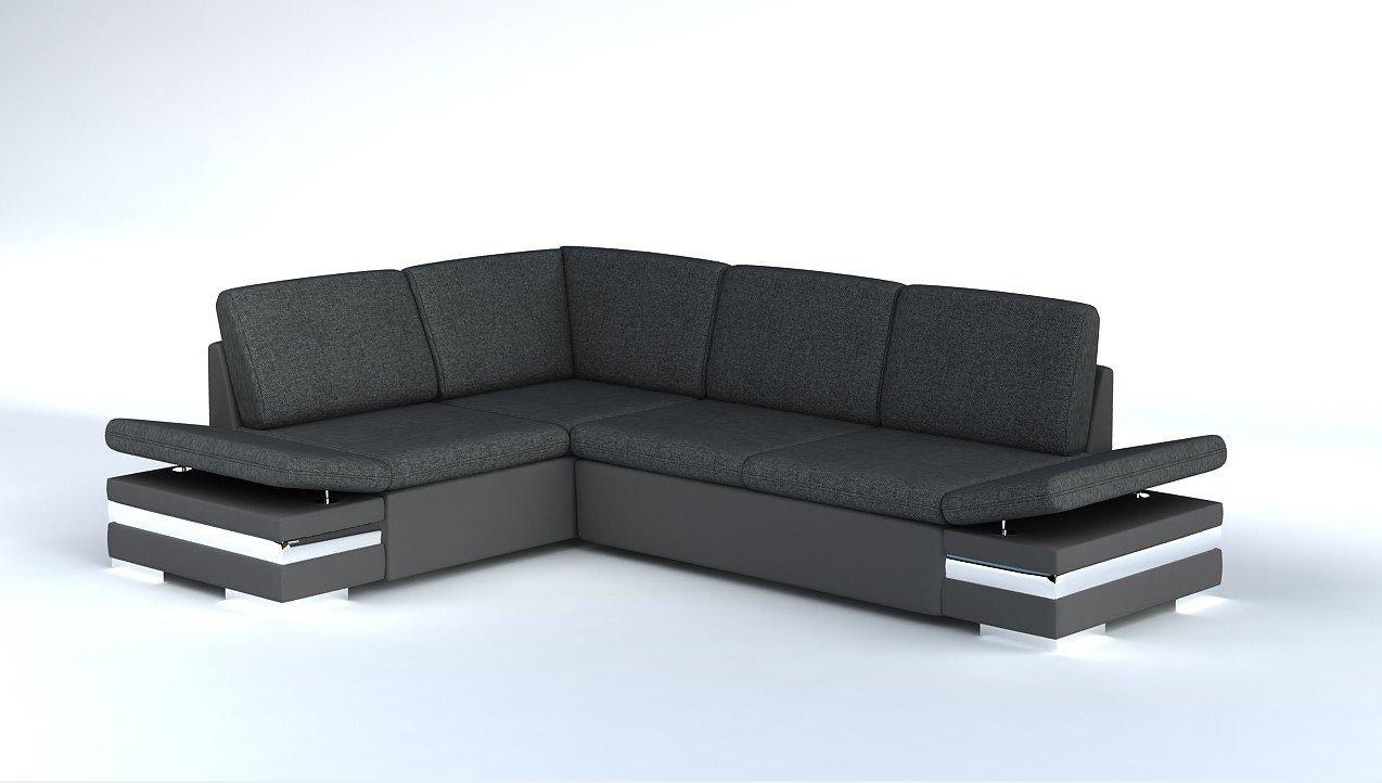 Ecksofa Latino Mit Schlaffunktion Sofa Couch Schlafsofa Polsterecke