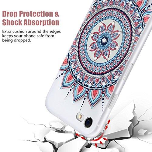 Case para iPhone 6s Funda, Vandot 3D Alivio Patrón Protectiva Carcasa de Silicona Gel TPU Estrecha Case Cover Matte Lujo Suave Shell Concha Funda Caja de Teléfono para iPhone 6/6s 4.7, Relieve Pintad FDMSH-3