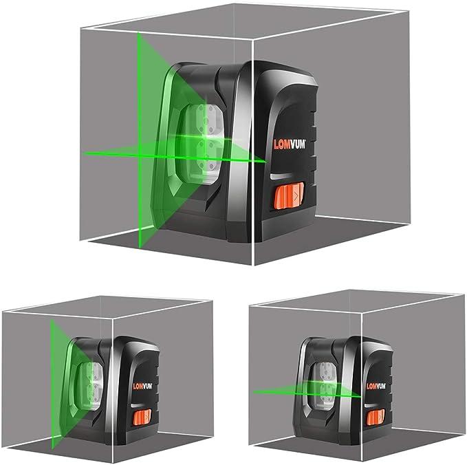 Nivel Láser Autonivelante Verde,LOMVUM LL-DR2-G2 Nivelador de ...