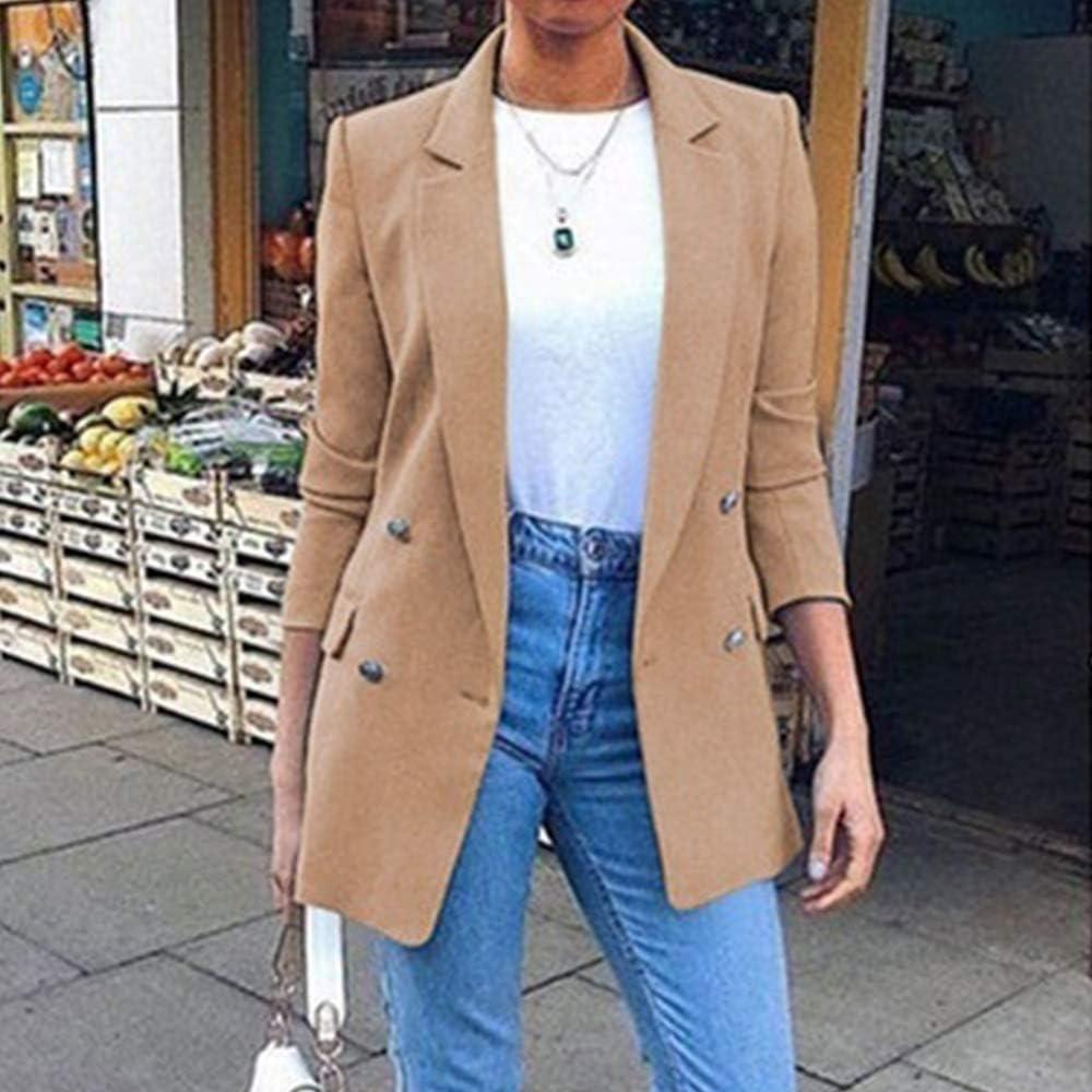 Puimentiua Blazer Femme Chic Veste de Tailleur Costume D/écontract/é Slim Fit /à 3//4 Manches Printemps Automne
