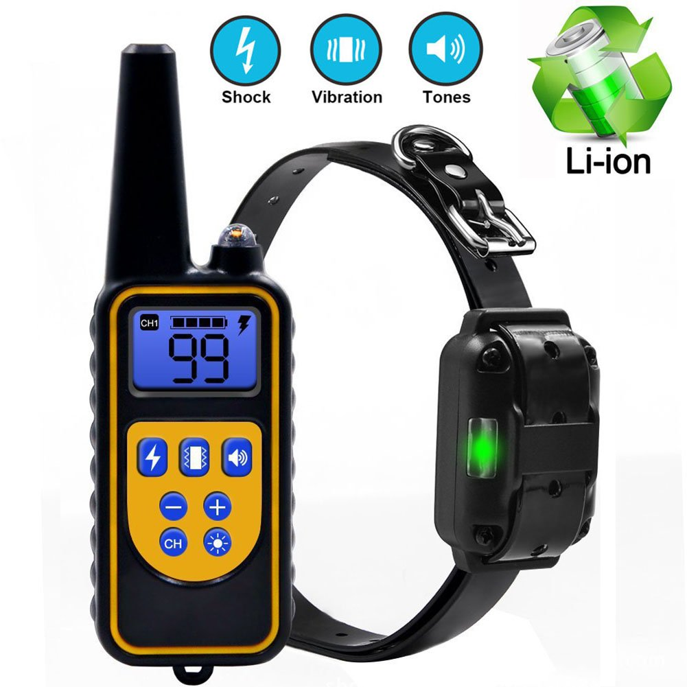For One Dog VINIKING Dog Training Collar IP67 Water-resistant and Rechargeable with 800 Yards Remote Shock Vibration Beep Anti Barking Collar for Puppy,Small,Medium and Large Dog (For One Dog)