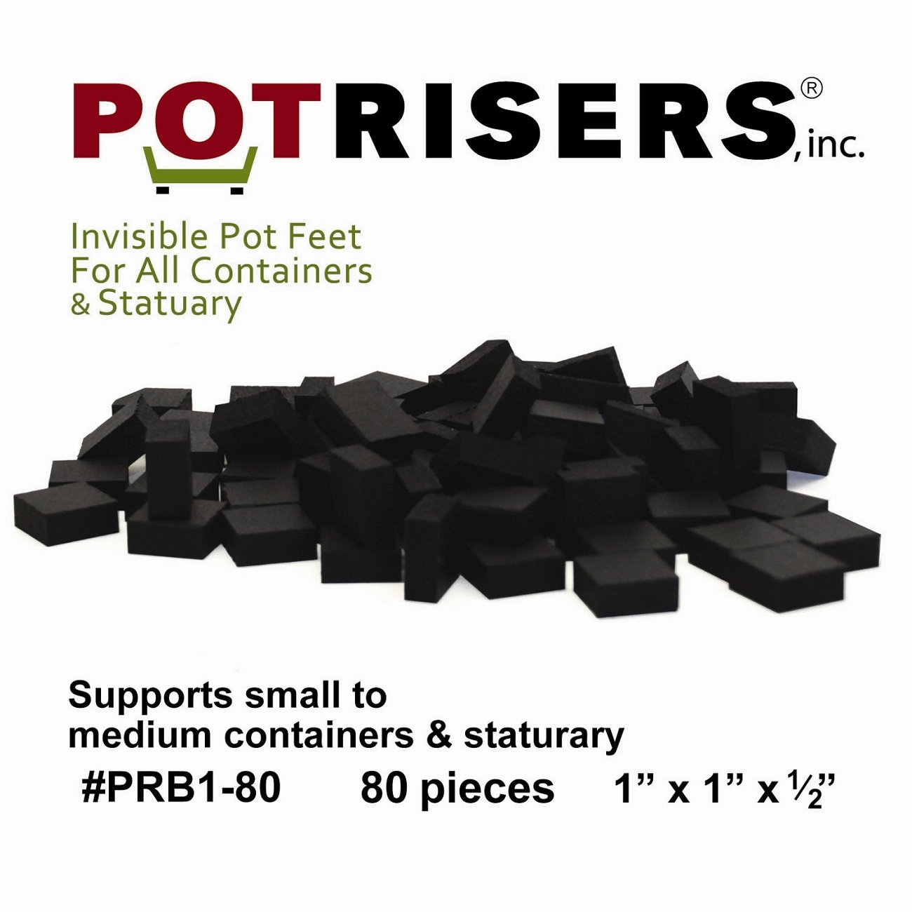 Potrisers (80 Pack) of Standard Risers (supports 20-25 smaller to medium sized pots or statuary)