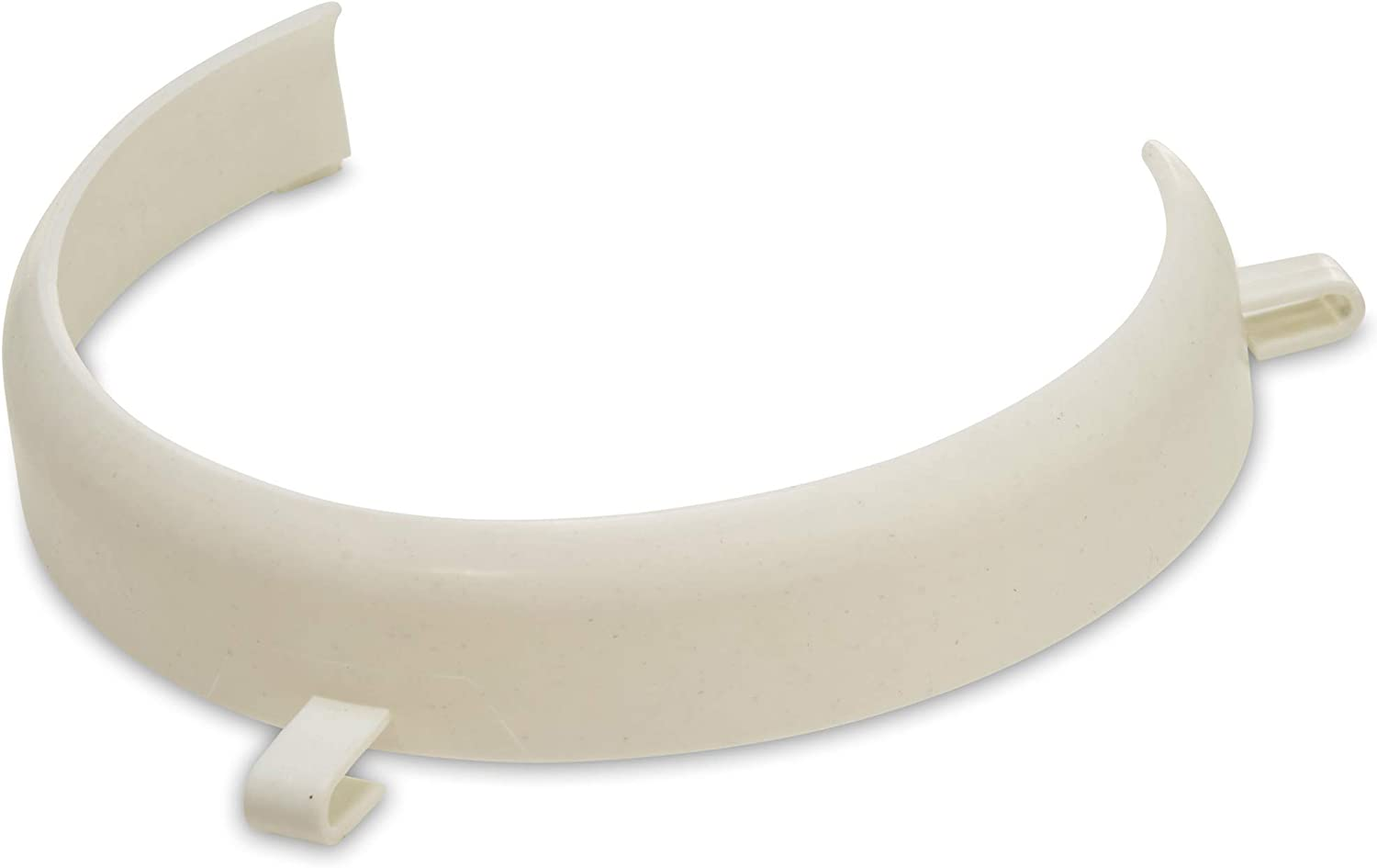Mars Wellness White Food Plate Guard - Reusable Snap On Ring fits 7.5