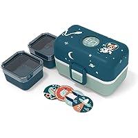 monbento - MB Tresor Azul Cosmic Fiambrera Infantil - Lonchera para niños 3 Compartimientos - Caja merienda - Bento Box…