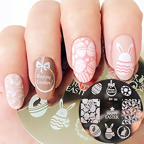 Nail Art DIY Stamp Stamping Image Metal Plate Easter - FashionDancing