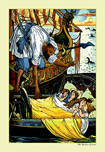 - ArtParisienne Princess Belle-Etoile The Rescue Walter Crane 12x18 Poster Semi-Gloss Heavy Stock Paper Print