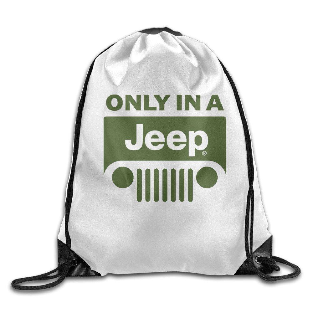 のみでジープロゴ巾着バックパック通気性旅行スポーツバックパックバッグ One Size hyrfhe47_10259369 B01LQ85ZCW  One Size