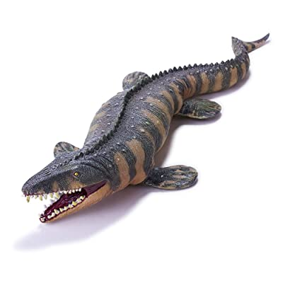 Recur Toys Dinosaur Action Figure Mosasaurus Soft PVC Toy Figure Replica 1:40 Scale Jurassic Dinosaur Toys with Teeth Realistic Design Animal Figure for Kids and Collectors