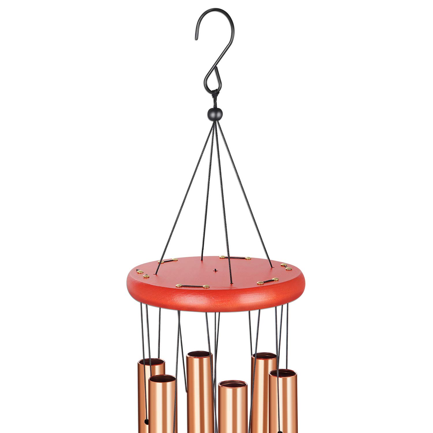 HoneForest Wind Chimes, 30 inches Soothing Rich Lasting Tones and Solidly Constructed Medium-Metal-Wind-Chimes-Outdoor, Decor for Yard Patio Garden