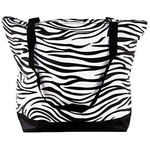 - SLM Printed Nylon Shoulder Tote Bag-Zebra
