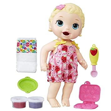 f67014efec Boneca Baby Alive Lanchinhos Divertidos Hasbro Loira  Amazon.com.br ...