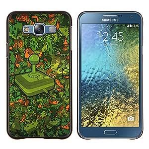 Modelo Retro Gaming- Metal de aluminio y de plástico duro Caja del teléfono - Negro - Samsung Galaxy E7 / SM-E700