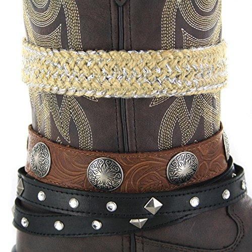 Stivali Di Moda Fb Stivali Durango Occidentale Accessorize Drd0123 Marrone Scuro / Damen Cowboystiefel Braun / Westernstiefel / Damenstiefel Marrone Scuro