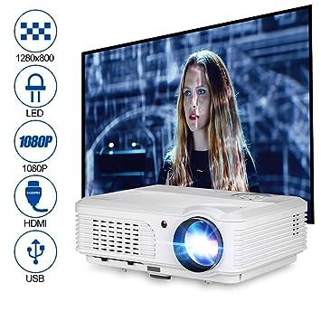4200 Lumen HD Proyector de Cine en casa Multimedia 1080p ...