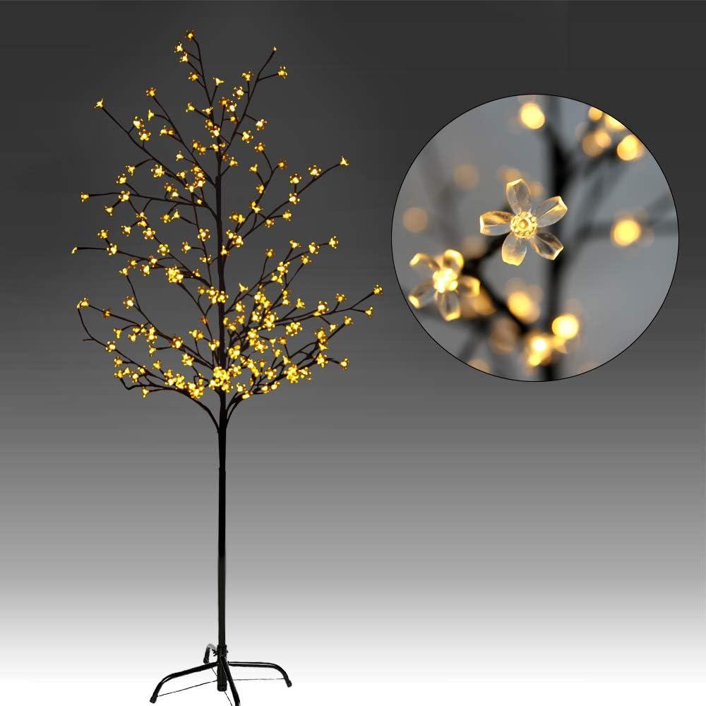 1.8m 120LED arbre artificiel lumineux 1.5m Blanc Chaud//Blanc Froid LED 220LED CCLIFE Arbre Lumineux 8 Effets Lumineux Impressionnants 2.2m 160LED 80LEDS