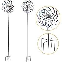 "JAXRL 79"" High Garden Windmill Decorative Kinetic Rainbow Wind Spinner Outdoor Art Decor for Lawn Yard"