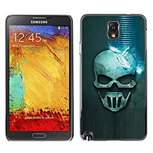 Licase Protective Case for Samsung Galaxy Note 3 N9000 - Blue Skull