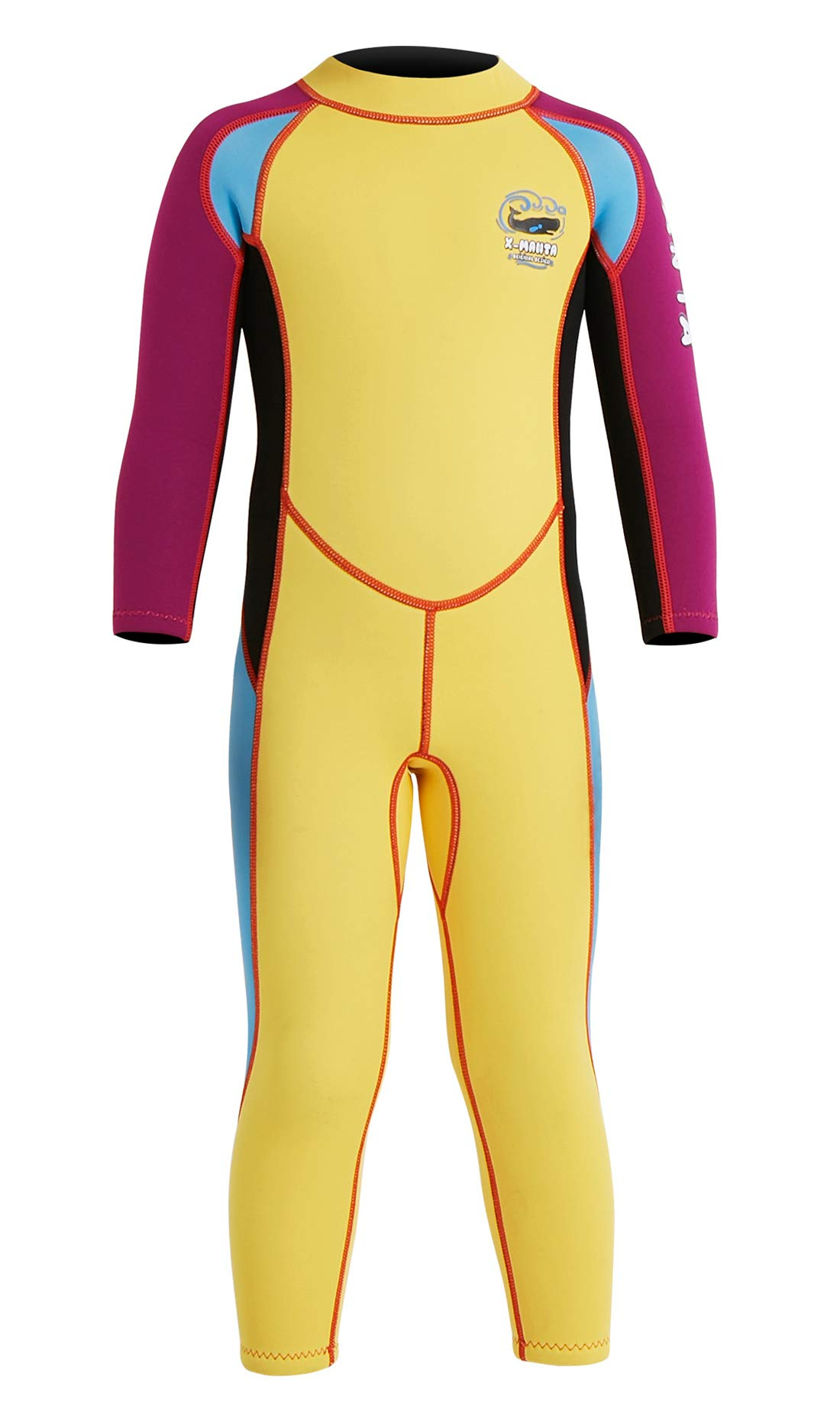 a8bcb7e19d DIVE & SAIL Kids Long Sleeve Full Suit Wetsuit Thermal Warm One Piece  Swimsuit Surfing Diving Suit Swimwear Yellow XL