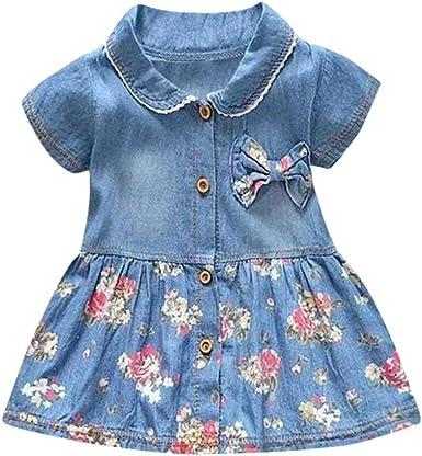 ASHOP Bebé y Niñas Ropa para Niñas Vestido de Flor, Vestido de ...