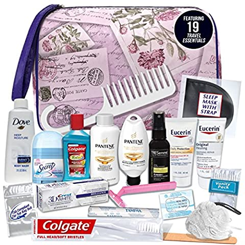 Convenience Kits Women's Premium 19-piece Necessities Travel Kit (Travel Set)
