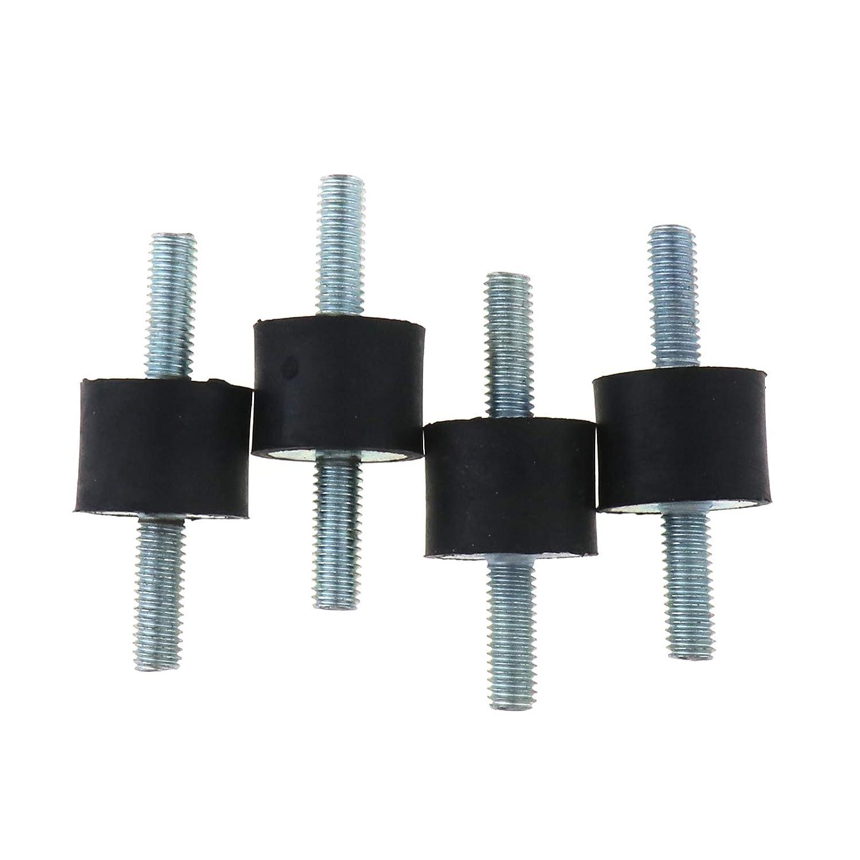 20 x 15 mm Soportes de goma M6 Doble Extremos de Tornillo Absorbente Anti Vibración Aislador de Bobinas de Goma Soportes para Barco Coche Silencioso Bloque Amortiguador