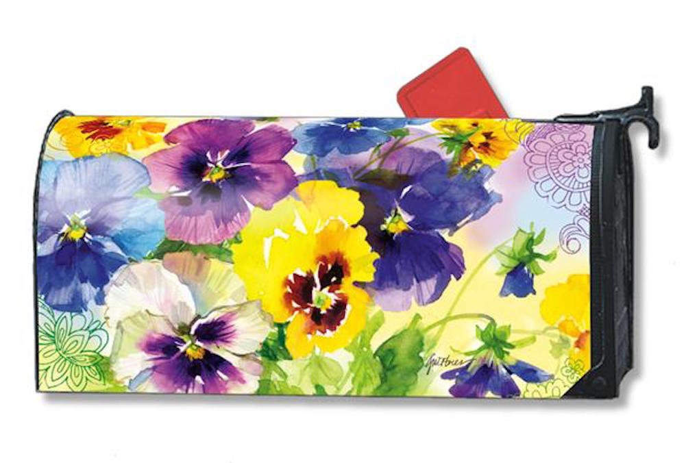 MailWraps Mixed Pansies Mailbox Cover #01077