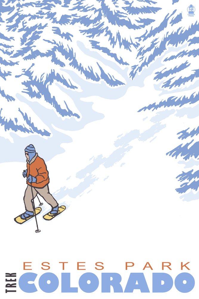 お見舞い Estes公園、コロラド州 – 24 Stylized x Snowshoer Snowshoer 12 x 18 Metal Sign LANT-44460-12x18M B00N5CJGC8 24 x 36 Giclee Print 24 x 36 Giclee Print, 製造直販ゴルフ屋:fd9fb767 --- 4x4.lt