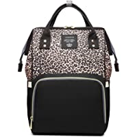 Leopard Print Nappy Bags Handbags Multi-Function Diaper Bag for Baby Care Travel Backpack Large Capacity