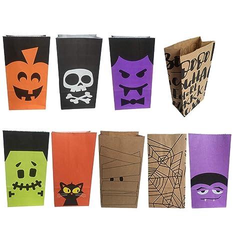CABILOCK 20pcs Bolsas de Dulces de Halloween Bolsas de ...