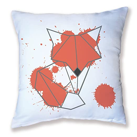 Cojín Decoración Origami zorro naranja kawaii - fabricado en ...