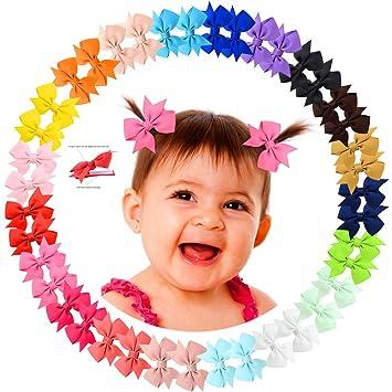 20 Pcs//lot Girls Candy Color Kids Bow Alligator Clip Children Hair Accessories