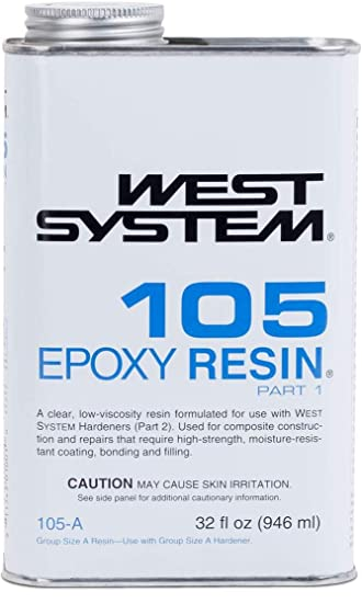 Amazon com: WEST SYSTEM 105A Epoxy Resin (Quart): Sports