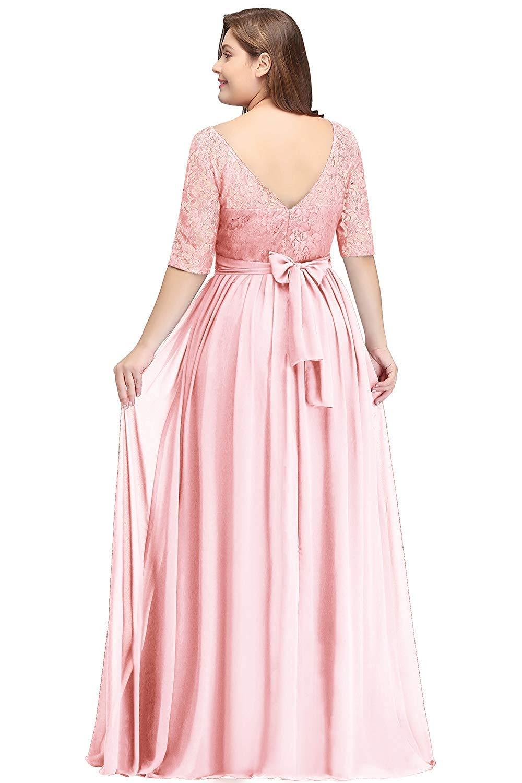 Babyonlinedress Women Long Special Occasion Dress Plus Size Gown Pink 16W