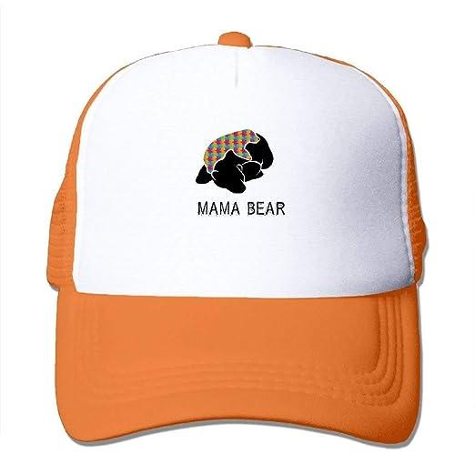 f067b555d TOGEFRIEND Mama Bear Autism Awareness Kids Cap Baseball Hat Mesh ...