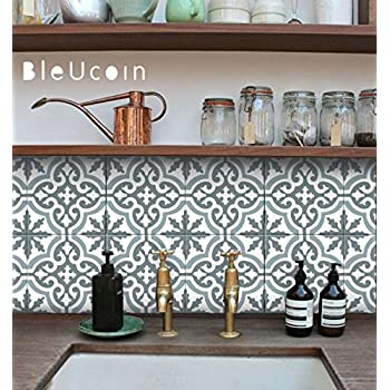 Moroccan Blue Dusk Tile Stickers Kitchen And Bathroom Backsplash Tile Decal Stair Riser Stickers Peel And Stick Home Pack Of 44 8 X 8 Inches