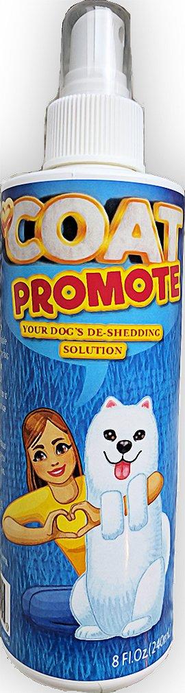 Coat Promote Natural DeShedding Spray for Dogs - Relief for Dog Dry Skin, Dandruff, Excess Shedding