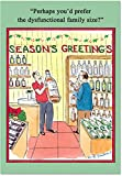 B5780 Box Set of 12 Dysfunctional Family Funny Christmas Paper Cards with Envelopes