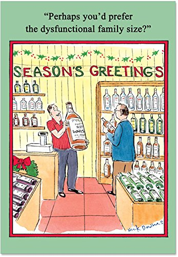 B5780 Box Set of 12 Dysfunctional Family Humor Christmas Greeting Cards with Envelopes