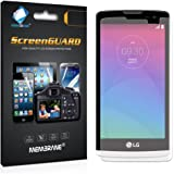 3 x Membrane screen protectors for LG Leon (4G LTE H340N) - Clear, Installation Kit, Lifetime Warranty