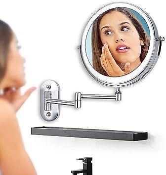 Wand befestigter Make up Spiegel mit Beleuchtung